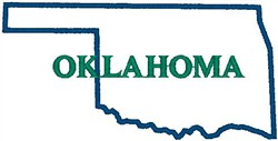 Oklahoma Labeled embroidery design