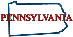 Pennsylvania Labeled embroidery design