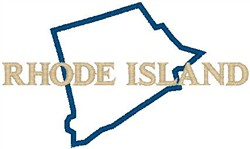 Rhode Island Labeled embroidery design