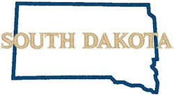 South Dakota Labeled embroidery design