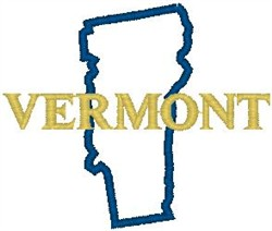 Vermont Labeled embroidery design