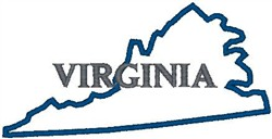 Virginia Labeled embroidery design