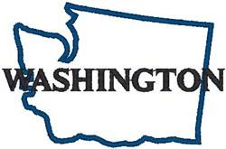 Washington Labeled embroidery design