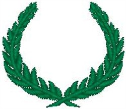 Leafy Wreath embroidery design