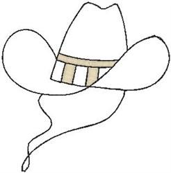 Cowboy Hat Outline embroidery design