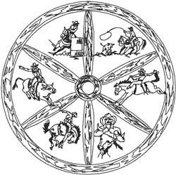 Western Logo embroidery design
