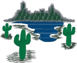 Southwest Landscape embroidery design