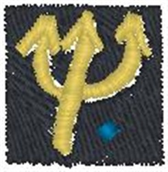 Tritons Spear embroidery design