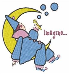 Wizard On Moon embroidery design