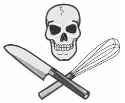 Skull Cook embroidery design