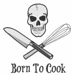 Skull Chef embroidery design
