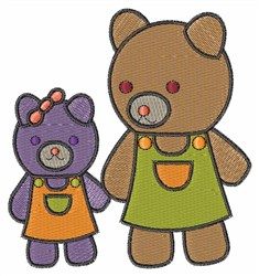 Teddy Bear Sisters embroidery design