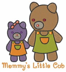 Mommy Bear embroidery design