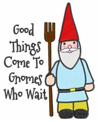 Gnome Saying embroidery design