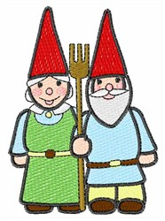 Gardening Gnomes embroidery design