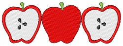 Row Of Apples embroidery design