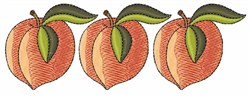 Row Of Peaches embroidery design