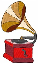 Vintage Phonograph embroidery design