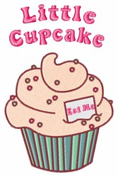Cupcake Saying embroidery design