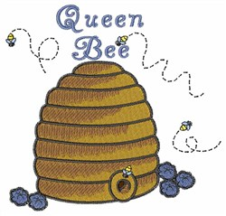 Queen Bee embroidery design