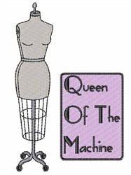 Queen of Machine embroidery design