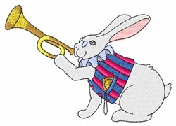 White Rabbit & Trumpet embroidery design