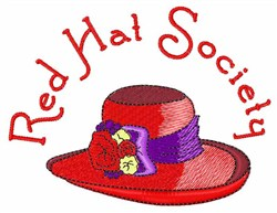 Red Hat Society embroidery design