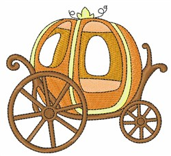 Pumpkin Carriage embroidery design
