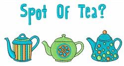 Spot of Tea embroidery design