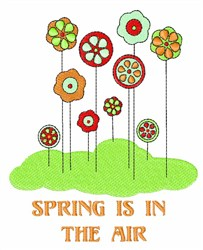 Spring in the Air embroidery design