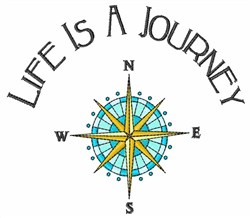 Life is a Journey embroidery design
