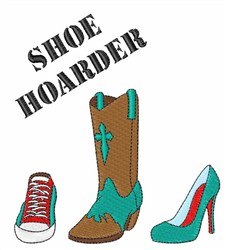 Shoe Hoarder embroidery design