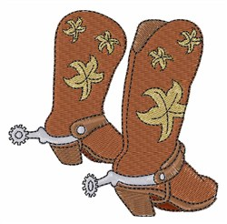 Boots & Spurs embroidery design