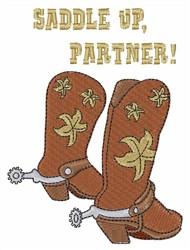 Saddle Up Partner embroidery design