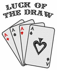 Luck of the Draw embroidery design