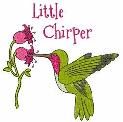 Little Chirper embroidery design
