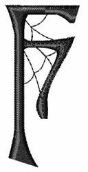 Cobweb F embroidery design