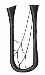 Cobweb U embroidery design