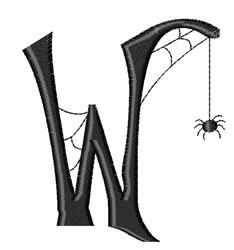 Cobweb W embroidery design