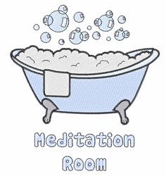 Meditation Room embroidery design