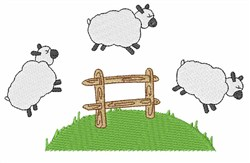 Jumping Sheep embroidery design
