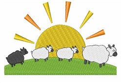 Sun And Sheep embroidery design