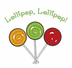 Lollipop Lollipop embroidery design