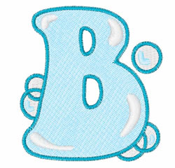 Floating Bubbles B embroidery design