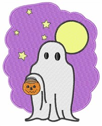 Ghost Costume embroidery design