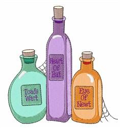 Bottles of Brews embroidery design