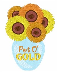 Pot o Gold embroidery design