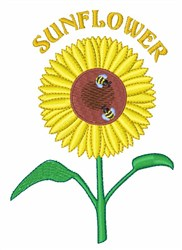 Sunflower with Bees embroidery design