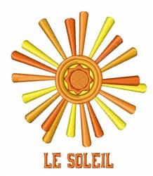 Le Soleil embroidery design