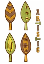 Artictic Autumn embroidery design